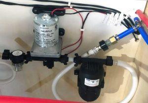 rv water pump runs but no water